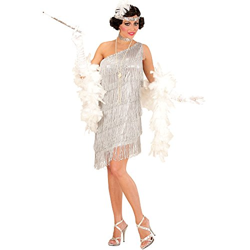 Kostüm Costume Charleston 1920 Night Show Flapper Gangster Silber 20er New (1920 Vampir Kostüm)