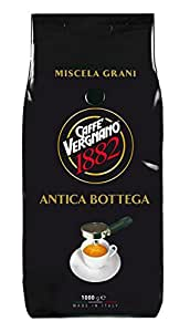 Vergnano - - Café en Grains Vergnano 1882 : Antica Bottega 100% Arabica 1Kg
