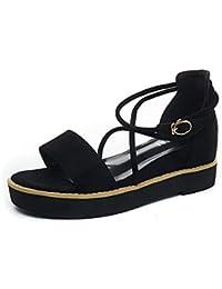 Sandalias de verano hembra pastel zapatos inferior grueso