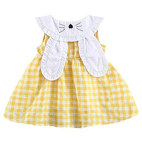 Kleinkind Mädchen Kleidung Kaninchen Prinzessin Kleid Mädchen Kurze Bandage Anzug Mini Kleid(0-36Monate) ()