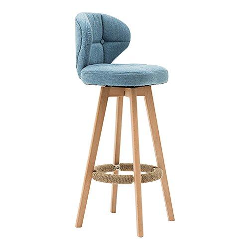 MENA Uk 360 Grad Swivel Massivholz Rückenlehne Stuhl, Klassische Esszimmerstuhl Wohnzimmer Büro Espresso/Rustikal, Classic, 108X34X40cm (Farbe : Blau, größe : 64cm) - Espresso-esszimmer