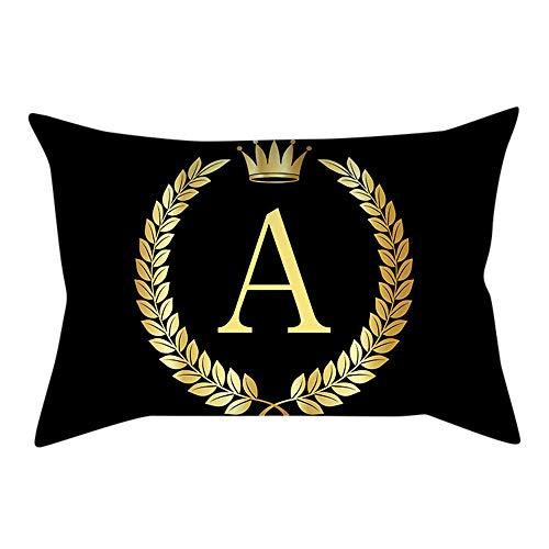 2019 Nuovo Elegante Copertura Unica del Cuscino Gold Letter Stampa Finesse Federa Cuscino del Divano Home Decor 12 × 20 Pollici By WUDUBE