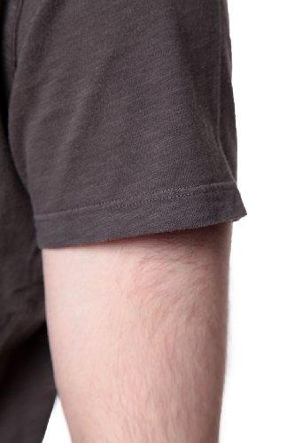 True Religion Herren Shirt Motiv T-Shirt SLUB SS CRW NK TRBJ GR 1114 Dunkelgrau