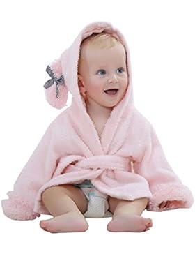 YOUJIA kuscheliger Kapuzenhandtuch Baby Frottee Bademantel Mit Tiermotiven (0-1 Jahre )