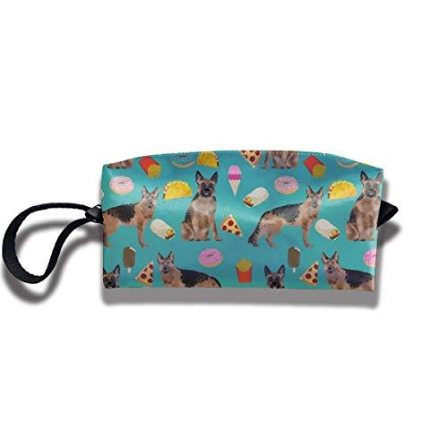 Pencil Bag Kosmetiktasche German Shepherd Junk Food Damen Kosmetiktasche Multifunktions Durable Pouch Zipper Organizer Bag -
