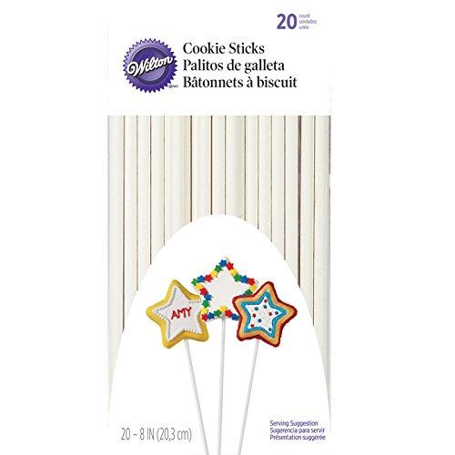 Wilton 1912-9318 Cakepop-Stiele 20 cm, Paper, Weiß Wilton Cookie Stick