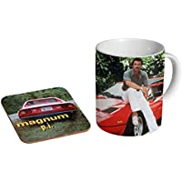 Magnum PI Tom Selleck Awesome Ceramic Coffee MUG + Coaster Gift Set …
