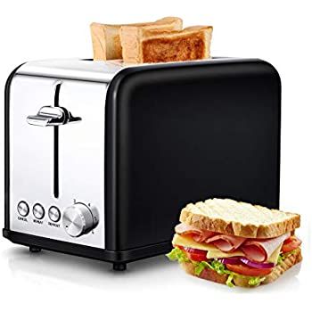 Stainless Steel Toaster Black morpilot Toasters 2 Slice with Wide Slot,Toaster with Cancel//REHEAT//DEFROST Function /& 6 Browning Settings,2 Slice Toasters Small Toaster for Bread Waffles