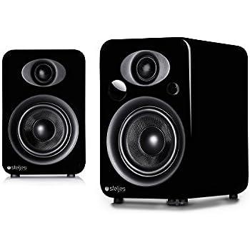 Steljes Audio NS3 Bluetooth Duo Speakers (Coal Black)
