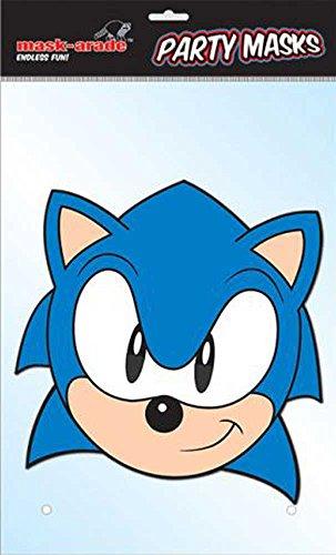 Sonic The Hedgehog Maske Pappmaske - Grösse ca. 30x21 (Sonic Kind Kostüme Hedgehog Sonic The)