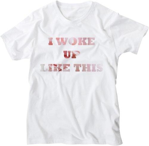 Mister Merchandise White Design Herren T-Shirt I Woke Up Like This Rose Weiß