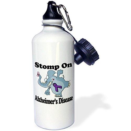 Elefant Stomp auf Alzheimer-Krankheit Bewusstsein Band verursachen Design Sport Wasser Flasche Edelstahl-Flasche für Frauen Herren Kinder 400ml