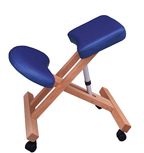 Sedia ergonomica g3b blu sgabello con ruote per casa o ufficio