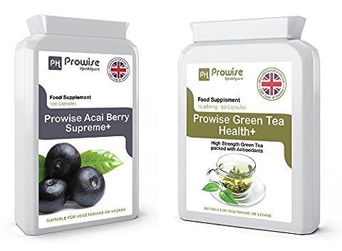 Acai Berry + Thé vert - Suppléments de perte de poids, thé vert Capsules - Aide à Shed Fat Pour homme et femme - une perte de poids objectifs FAST - Pills Fat Burner Diet