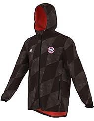 adidas FCB Windbreaker - Cortavientos para hombre, color negro, talla 2XL