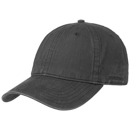 Stetson Ducor Sun Guard Fullcap Herren | Baseballcap aus Bio-Baumwolle (nachhaltig) | Frühjahr/Sommer | Cap mit Sonnenschutz UV 40+ | Basecap Stonewashed-Look | Outdoorcap schwarz L (58-59 cm) Mütze Schwarz Hut