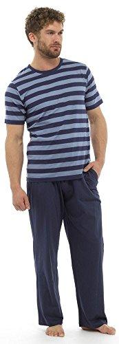 Tom Franks Herren Schlafanzug-Set Schlafanzug, Gestreift Hellblau / Marineblau