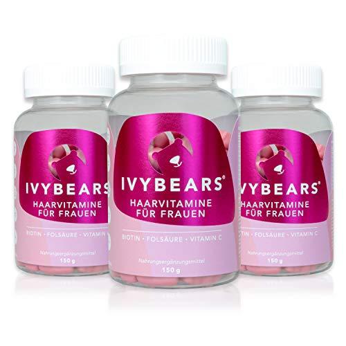 IvyBears Haar Vitamine mit Biotin, Folsäure, Haarvitamine und Mineralstoffen