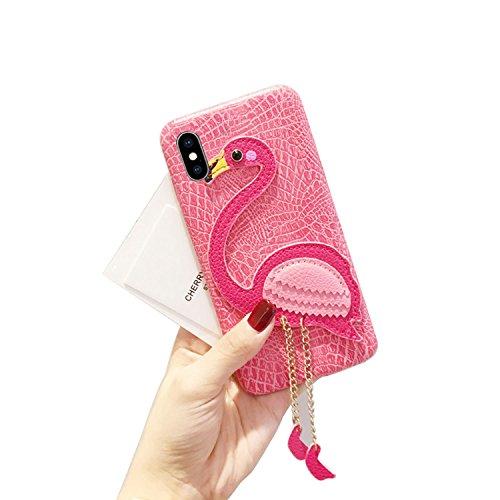Magnetico Cover per iPhone X/iPhone 10, Pelle Wallet Perla Wallet Premium PU e Glitter Brillanti 3D Strass Cover - Bonice Custodia Morbido Case Libro Leather, Magnetico Flip Protettiva Portafoglio, ID Pelle 02