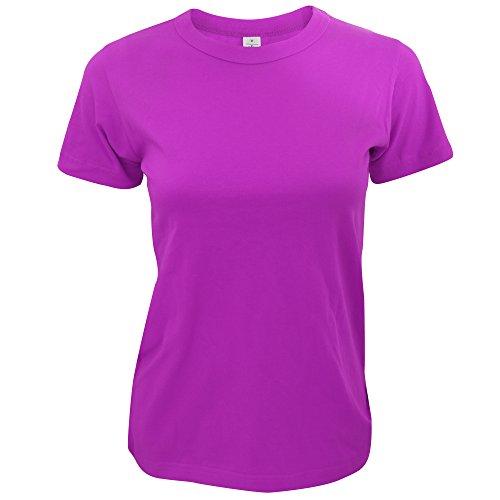 B&C Exact Damen Kurzarm T-Shirt Grau