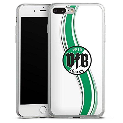 Apple iPhone X Slim Case Silikon Hülle Schutzhülle VfB Lübeck Fanartikel VfB Silikon Slim Case transparent