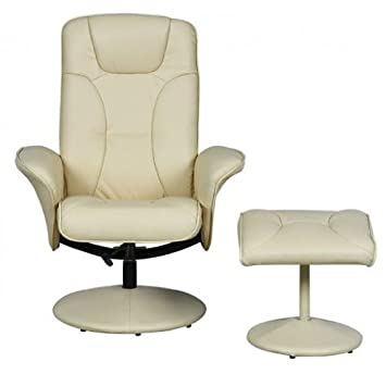 Turin Swivel Recliner Chair Reclining Armchair with FREE Matching Footstool - Cream  sc 1 st  Amazon UK & Turin Swivel Recliner Chair Reclining Armchair with FREE Matching ... islam-shia.org