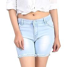 Ico Blue Stor Light Blue Denim Shorts for Women