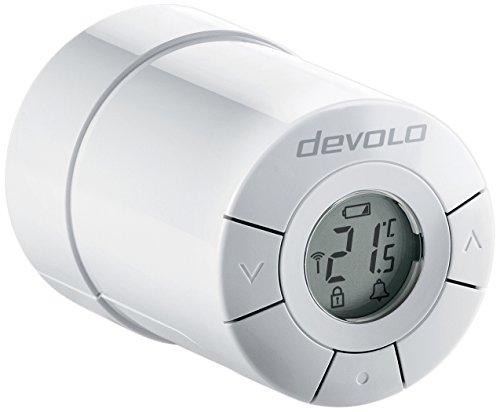 Devolo Home Control Heizkörperthermostat weiß (Heizungssteuerung Smart Home per iOS/Android App, Smart-Home Aktor, Z-Wave, leise, einfache Installation, komfort, Sensor)