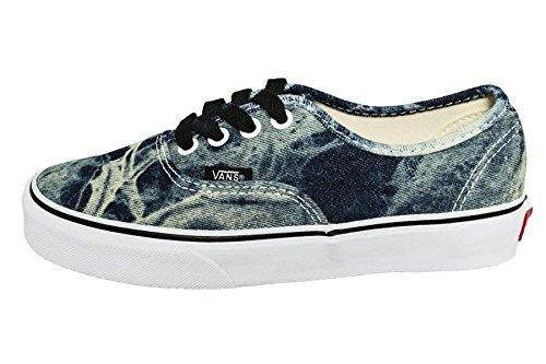 Vans Authentic, Sneakers Bass Erwachsene Unisex, Schwarz - Noir - (Acid Denim) Black/True w - Größe: 35 EU (Größe 15 Herren Schuhe-vans)