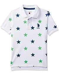 4c84b3f8f4e US Polo Association Boy s Plain Regular fit T-Shirt (UKTS670936T White 3-4  Years)