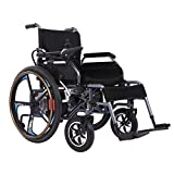 RDJM Elektrischer Rollstuhl, Intelligente Automatische,Faltbar, Frei-Reiten, Rollstuhl - with Polymer Li-Ion Battery(20-25km)