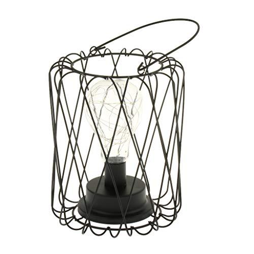 Homyl Lanterne LED Lampe Extérieure, avec Bougie LED,sans Fil Portable À Piles pour Club, Bureau, Cuisine, Chambre À Coucher, Salon, Ca