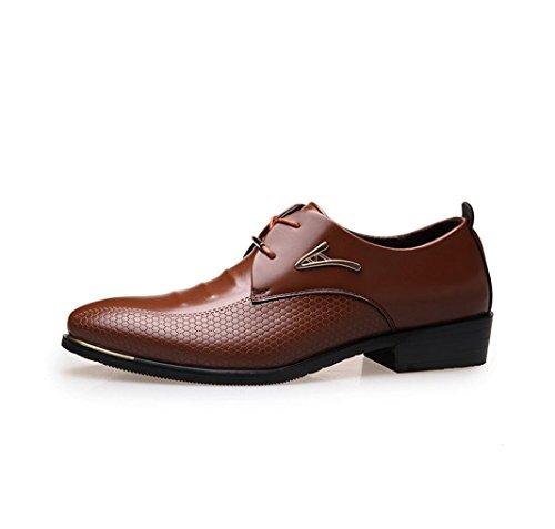 NSPX I pattini di vestito da banchetto dei pattini di cerimonia nuziale dei pattini del merletto delle nuove scarpe da tennis dei vestiti di affari degli uomini , 45 BROWN-39