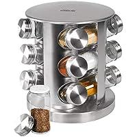 STONELINE  Gewürzregal, Edelstahl mit 12 Glasflaschen