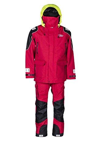 WestCoast Ölzeug Offshore - Segelbekleidung (Jacke + Hose) - Herren/Damen (Unisex)-rot-L