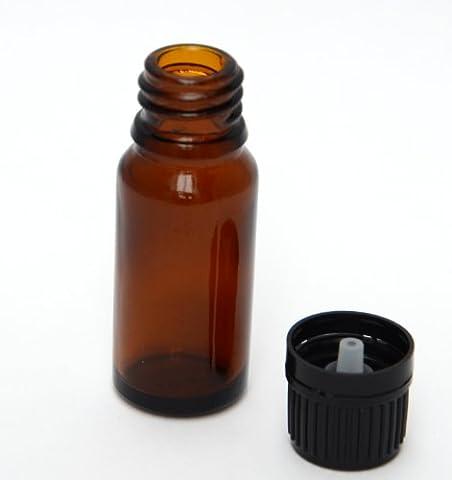 Bee Beautiful 10ml Ambre Bouteille en verre avec 18mm noir