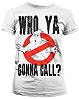 Officially Licensed Merchandise Who Ya Gonna Call? Girly T-Shirt