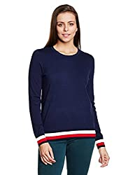 Tommy Hilfiger Womens Cotton Sports Knitwear (A7AWS109_Peacoat_L)