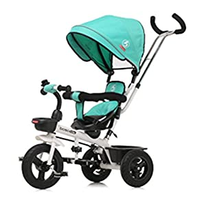 Children's Tricycle, Double-Sided Seat Stroller Adjustable Sun Visor Enlarged Storage Box Folding Pedal 3 to 6 Years Old Baby Indoor   6