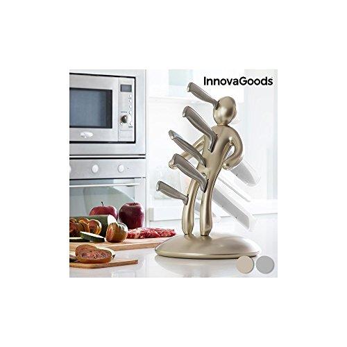 InnovaGoods Set de 6 Couteaux en Acier Inoxydable - 20 x 38 x 40 cm