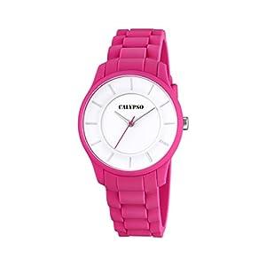 Calypso Reloj Unisex de Cuarzo con Correa de plástico en Color Blanco