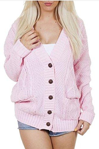 Platinum Clothing - Gilet - Femme rose bébé