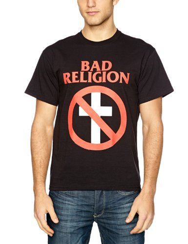 Bad Religion - - Classic Buster Herren Kurzarm T-Shirt in Schwarz, Large, Black