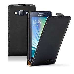 Membrane - Ultra Slim Noir Etui Coque Samsung Galaxy A3 2015 (SM-A300F) - Flip Case Cover Housse