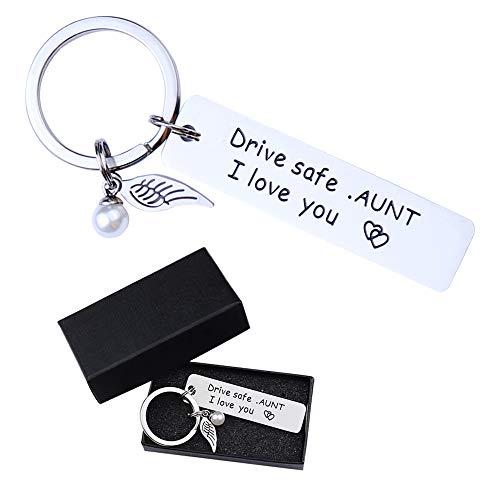 Fahren Sie sicher Schlüsselring ich liebe dich Schlüsselringe für Großeltern Onkel und Tante an seinem Geburtstag als Geschenk Schlüsselanhänger auf Familienzusammenkunft Drive Safe Schlüsselanhänger