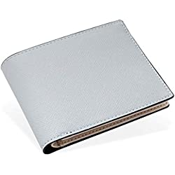 Zmsdt Billetera para Hombre Billetera para Hombre con Diseño De Moda Cartera para Hombre con Diseño De Rayas Cartera para Hombre (Color : Blanco)