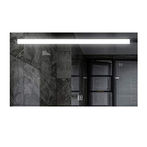 Miroirs LED Lumière Salle De Bains Applique Murale De Salle De Bains Intelligent Anti-buée (Color : Silver, Size : 60 * 80 * 3cm)