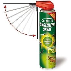 Celaflor Ungeziefer-Spray, Kontaktspray gegen schwer bekämpfbares Ungeziefer mit Sofort- und Langzeitwirkung, geruchlos, 400 ml Sprühdose