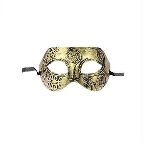 Shuangklei Bronze Farbe Römischen Griechischen Herren Venezianischen Halloween Kostüm Party Maskerade Maske