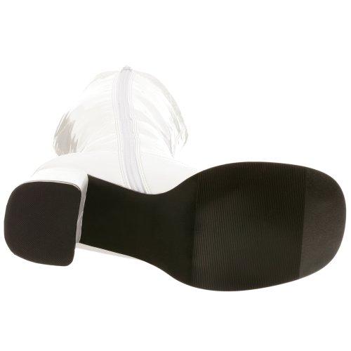Pleaser - Gogo300/W, Stivali sopra al ginocchio con fodera fredda Donna Bianco (Bianco (White))